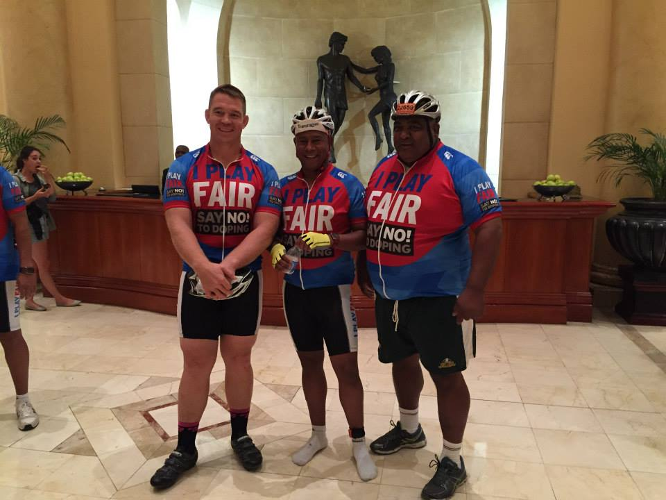 John Smit, Khalid Galant and Dale Santon ready to hit the road - photo courtesy of SAIDS